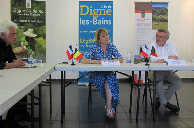 Visite Geoparc par la délégation Famenne-Ardenne