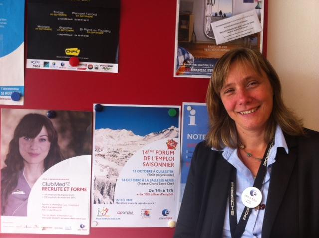 Valérie Muess, responsable d'équipe Agence Pôle Emploi de Briançon