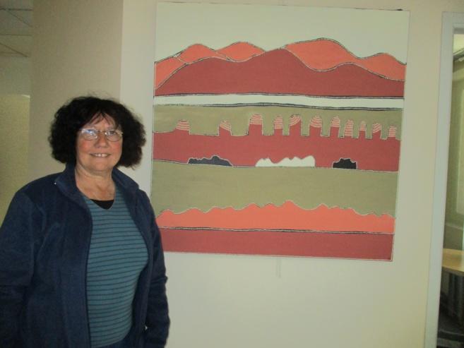 Anne Carlier expose ses peintures dans nos studios manosquins