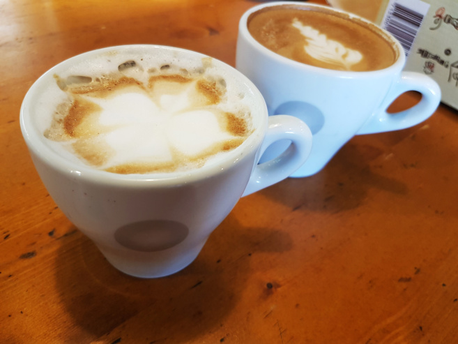 Le latte art réalisé par Cyril Pascal