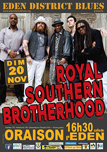 """ROYAL SOUTHERN BROTHERHOOD"" Concert dominical exceptionnel à Oraison !"