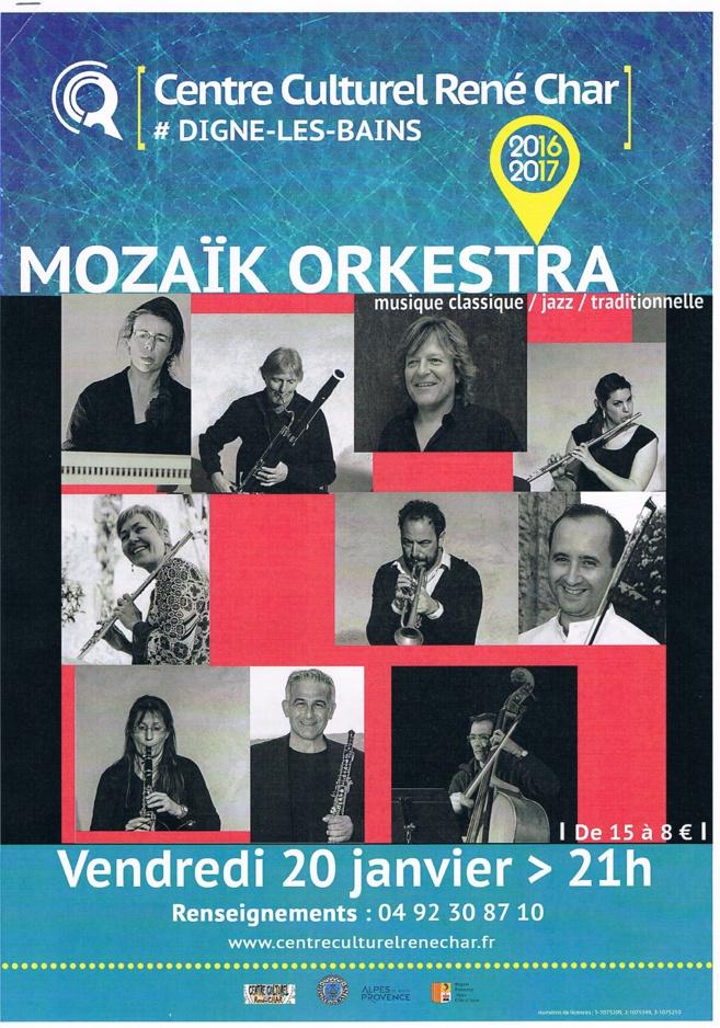 Le Mozaïk Orkestra est en concert à Digne vendredi