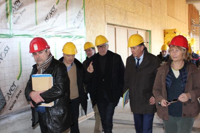 Le Préfet Guérin sur le chantier de l'Eco Campus
