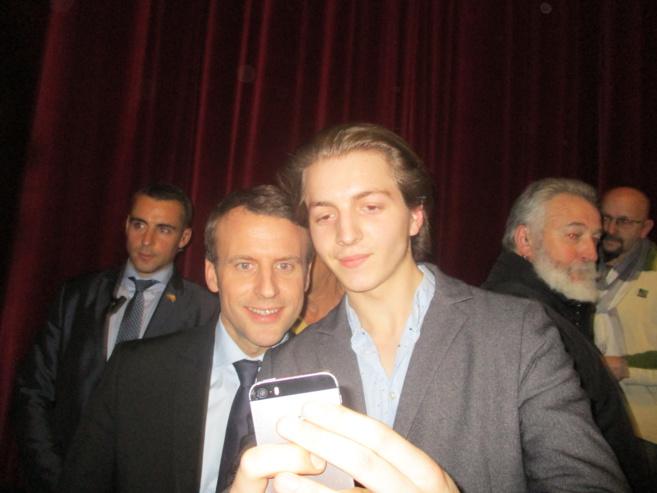 Emmanuel Macron en visite à Forcalquier