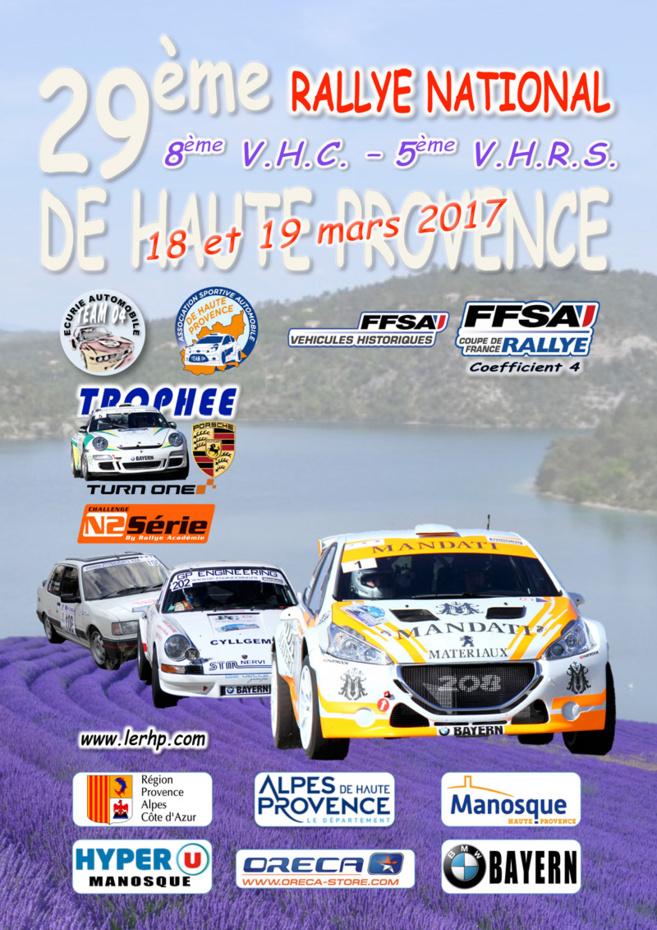 Sébastien Loeb dans la course sur le rallye de Haute-Provence