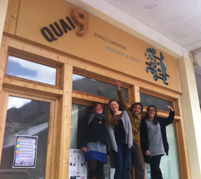 Quai 9 - Espace Co-working avec Geraldine, Maud, Ghislain et Magalie!