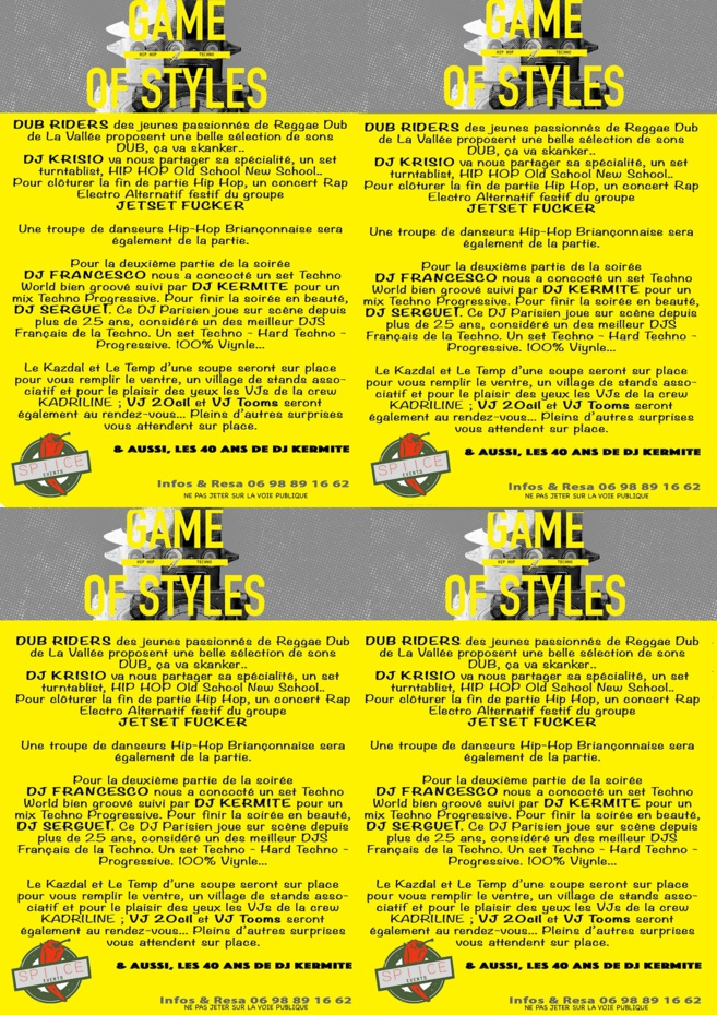 Programme Game of Styles
