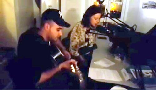 Mario et Julie lors de leur prestation