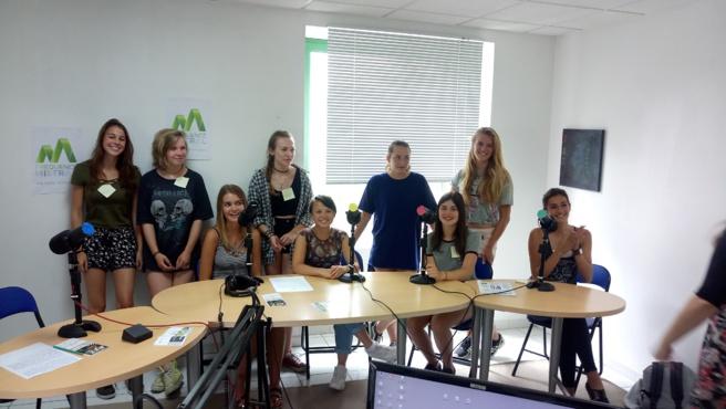 Des élèves de l'Ecole Internationale sont dans nos studios…
