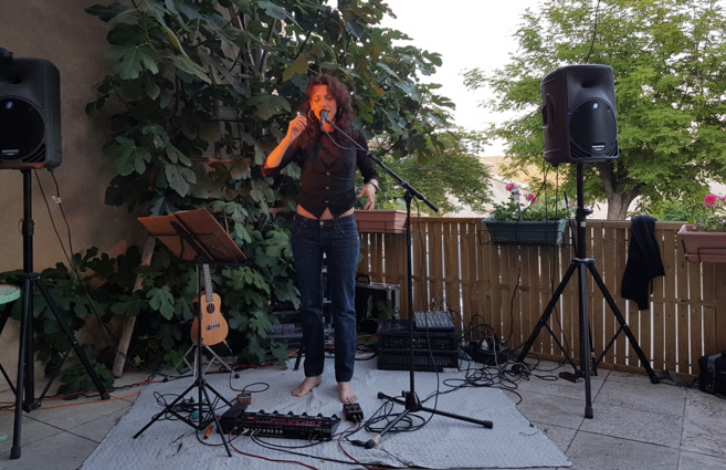 Farouche Devah en concert
