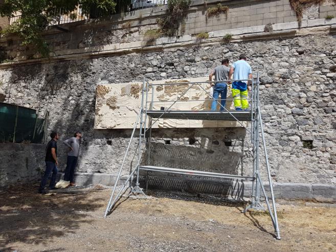 Le centre ancien s'offre une fresque murale