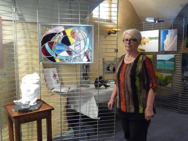 L'exposition d'art sous les voûtes de la Ferme de Font-Robert à Château-Arnoux a commencé le 4 Juillet