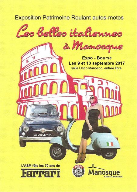 Les Belles Italiennes débarquent à Manosque ce week-end !
