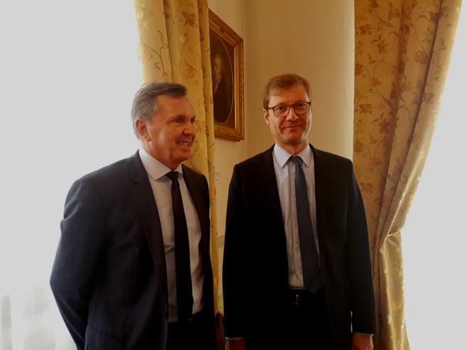 Le Préfet Bernard Guérin et Christophe Cousin Directeur des services du cabinet du Préfet