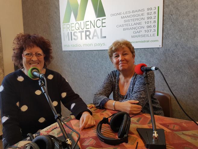 Régine D'Allosto et Annie Pegolotti de l'association JALMALV Digne