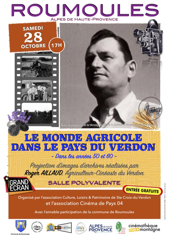 Roumoules rend hommage à Roger Aillaud, agriculteur et cinéaste