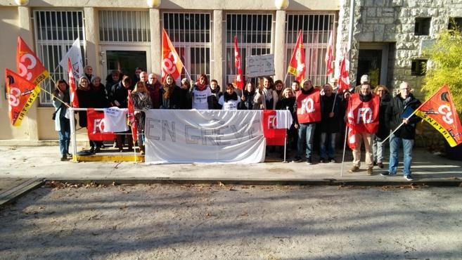 Les salariés du CMS de Manosque en grève !