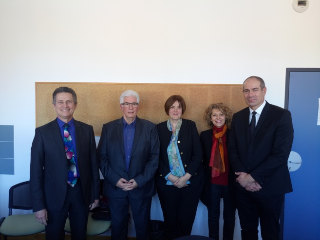 Le collège Jean Giono a reçu le président du Conseil départemental