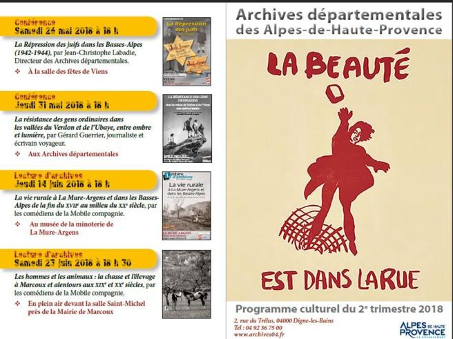 """Histoires d'Archives - les """"camps"""" pendant la Grande guerre dans les Basses Alpes"""