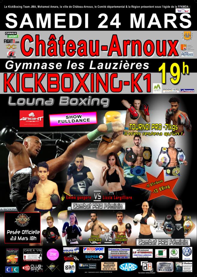 Samedi, le Louna Boxing investit Château-Arnoux !