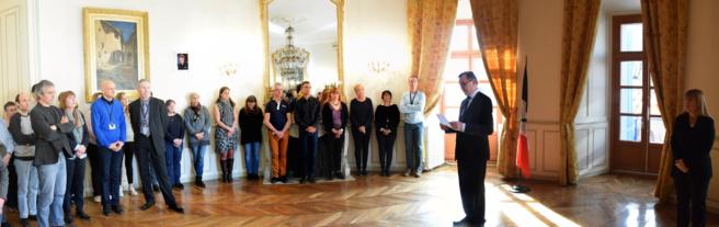 Hommage solennel aux victimes de l'attentat de l'Aude à la préfecture de Digne