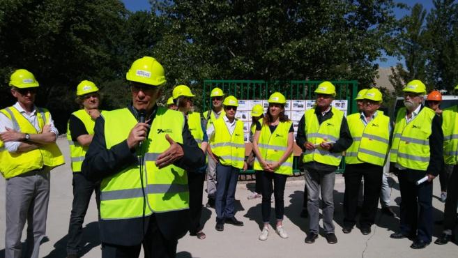 Les élus ont visité le chantier du futur pont de Manosque
