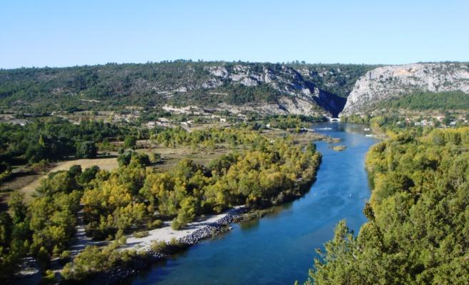 Les basses-gorges après le barrage de Quinson