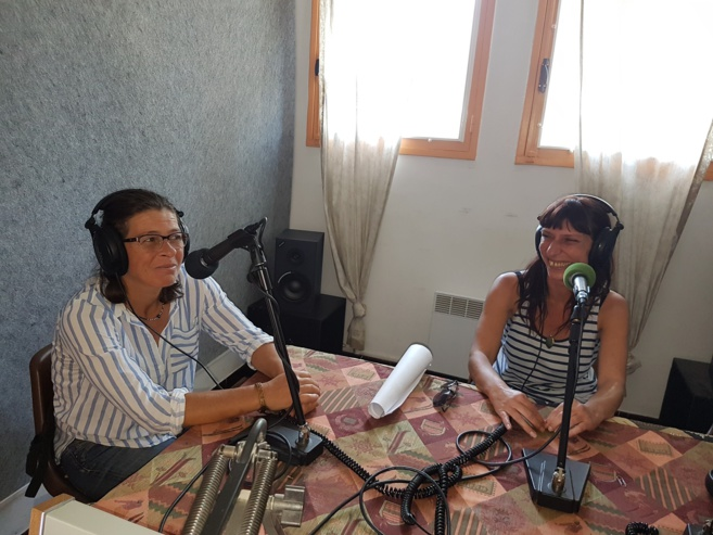 Lydie Guillot cartonniste, et Sabine Pierchon Plasticienne