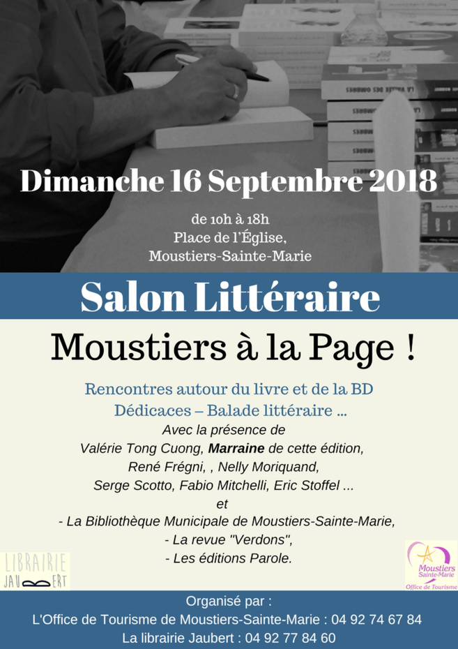 Ce dimanche, Moustiers-Sainte-Marie est à la page!