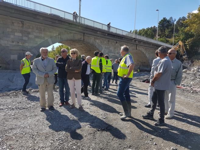 Les travaux du Grand Pont sur la Bléone avancent bien