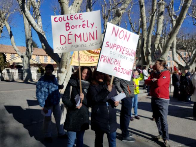 Jour de grève hier dans l'éducation nationale