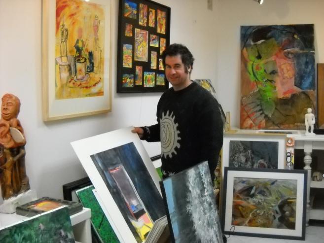 Colin, artiste sisteronais, passionné jusqu'au bout des doigts !