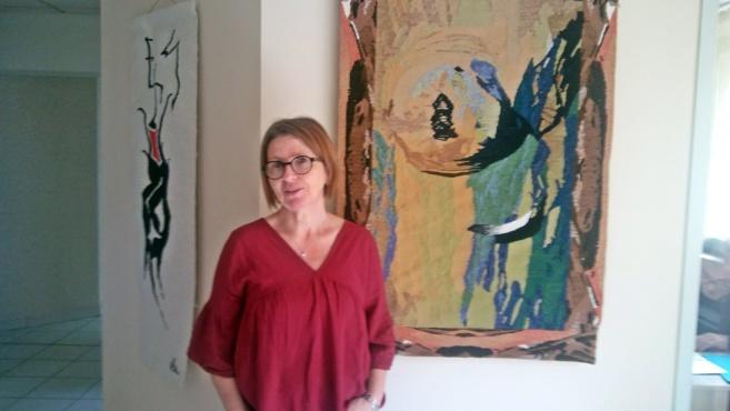 Sous les doigts de Valérie Vatan, les peintures font tapisseries