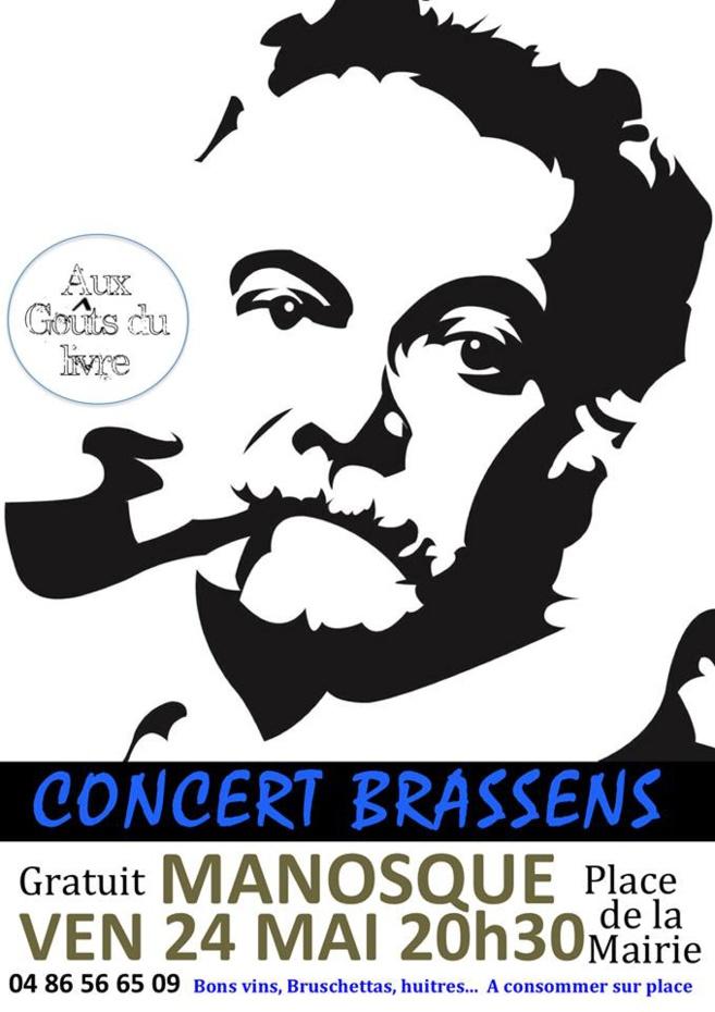 Concert Brassens vendredi 24 Mai 2019 à Manosque