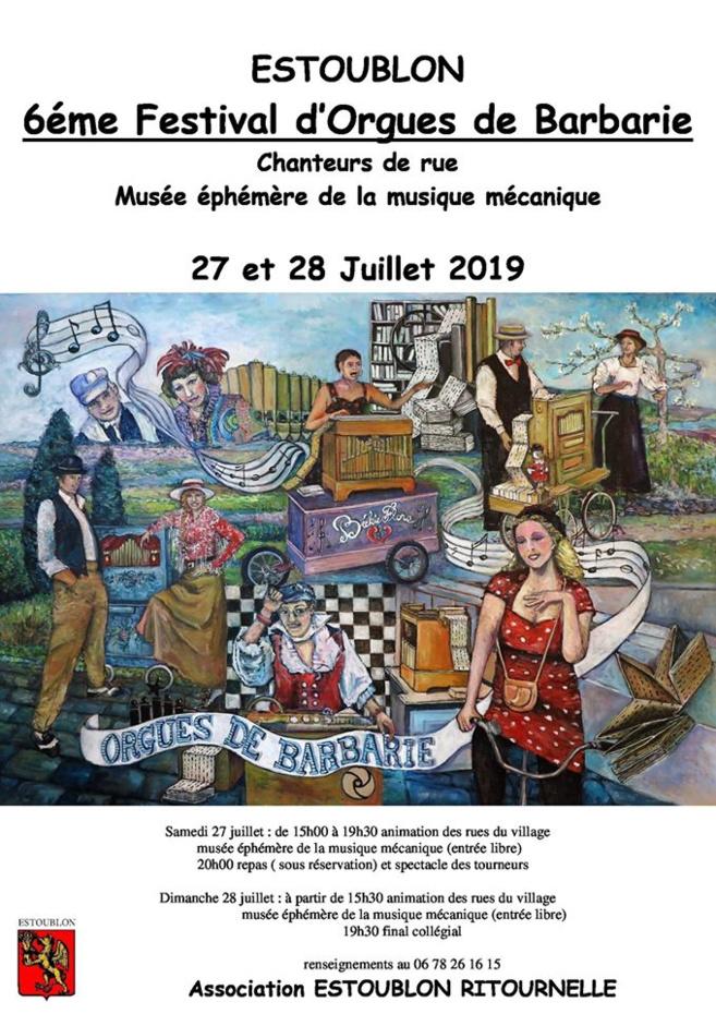 6ème festival d'Orgues de Barbarie à Estoublon