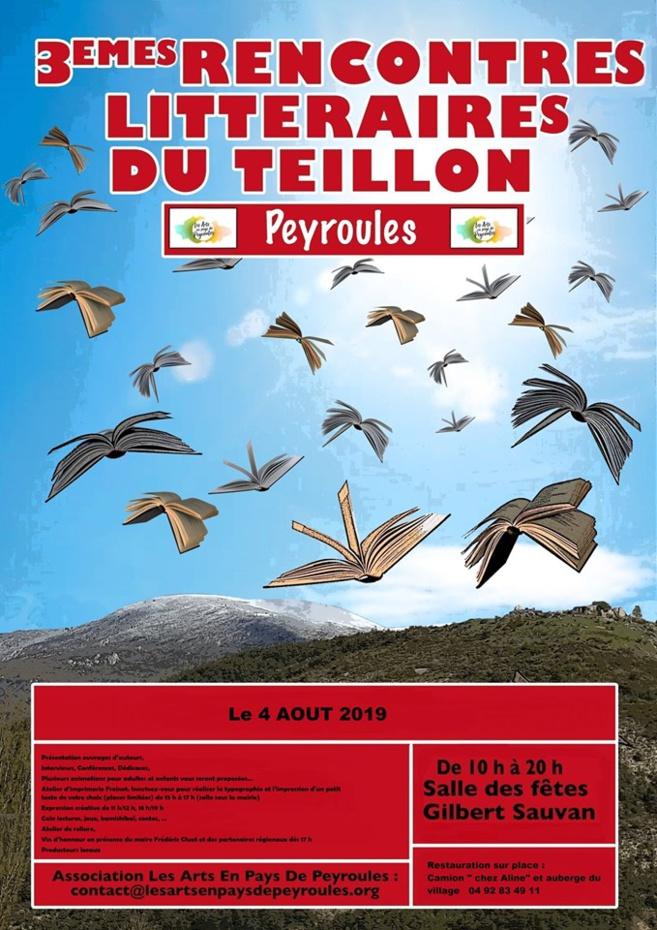 3èmes rencontres littéraires à Peyroules ce dimanche.