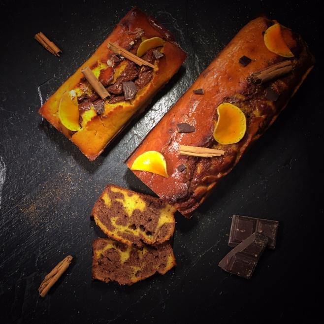 Marbré au butternut du Brusquet, au chocolat et à la farine de petit épeautre