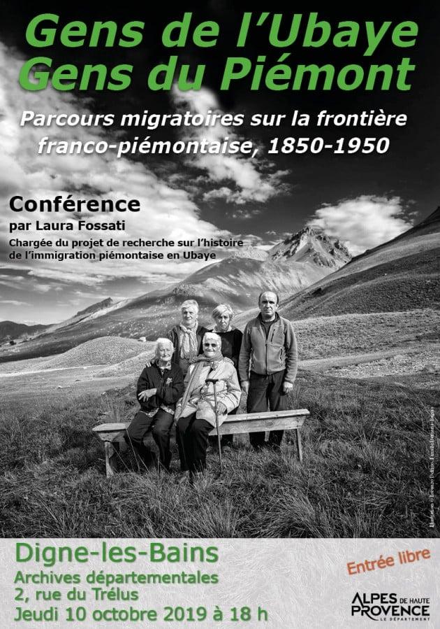Les migrations du Piémont vers l'Ubaye