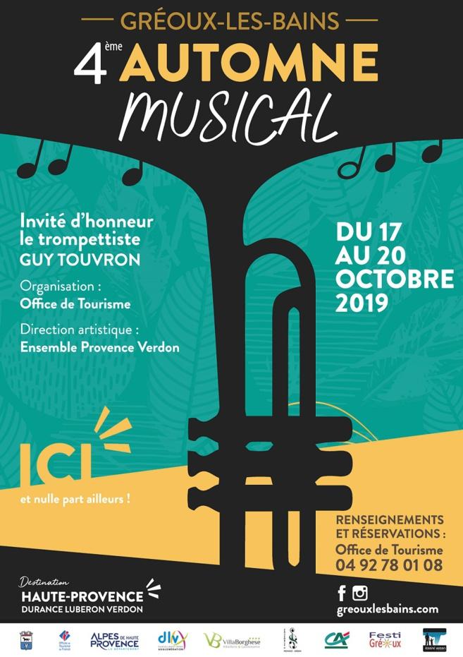 Depuis 3 ans l'automne est musical à Gréoux
