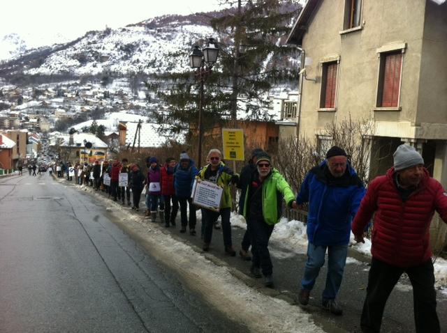 Mobilisation à Briançon pour les droits aux frontières