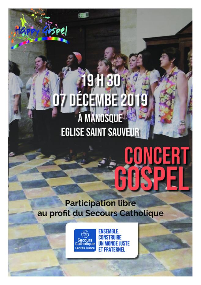 Happy Gospel chante pour le secours catholique