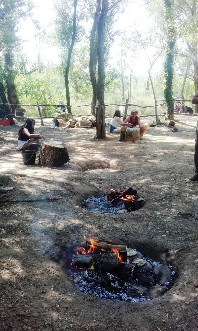 28èmes journées de la préhistoire à Quinson, la cuisine néolithique
