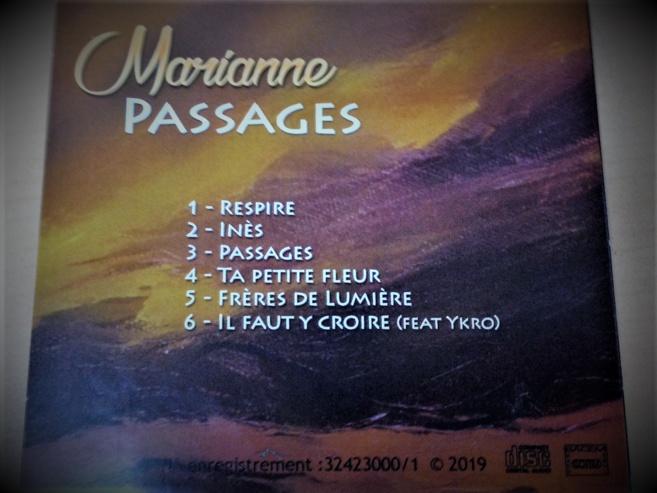 """Marianne présente son premier EP intitulé """" PASSAGES """""""