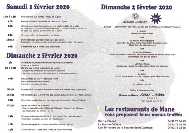 Mane accueille la 31ème fête de la truffe ce week-end