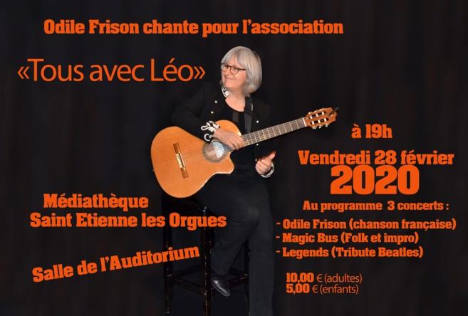 Concert solidaire pour Léo à Saint-Etienne-les-Orgues ce vendredi