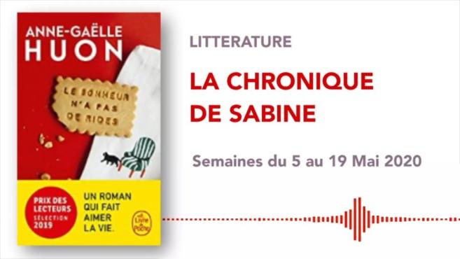 La Chronique de Sabine du 09 Mai 2020