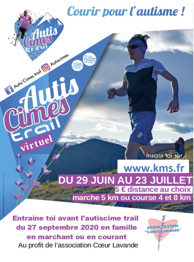 Trail virtuel d'entrainement autis'cimes en préparation au trail du 27 septembre 2020