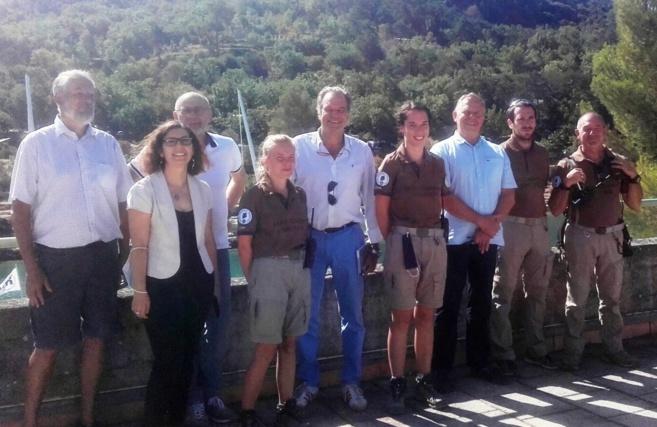 Renaud Muselier, président de région en visite dans le Verdon