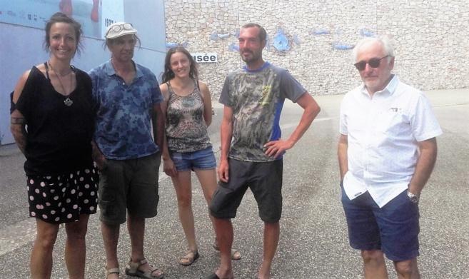 Morgane Verbe, Grégoire Antuna, Angélique Panafieu, Rémi Tiberghien et Jacques Espitalier
