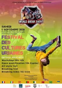 Festival de Cultures urbaines Samedi 5 septembre à Digne les bains